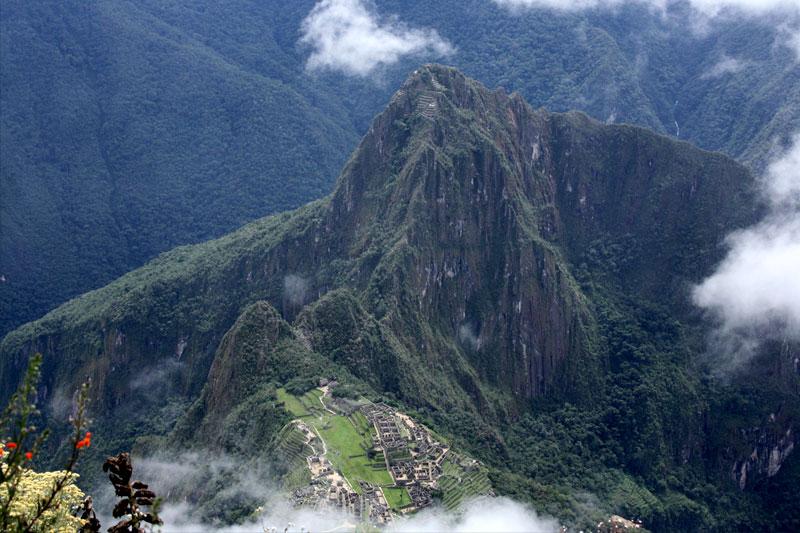 Vyhlad na Machu Picchu z Machu Picch Montana