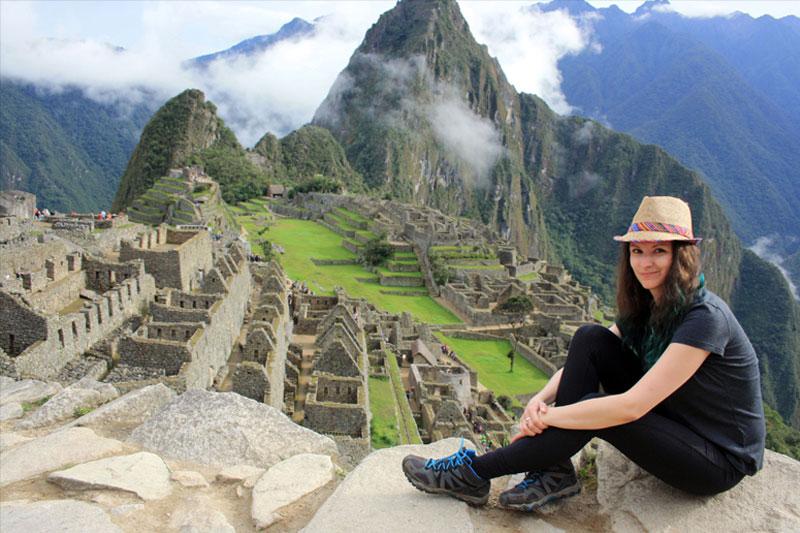 Zlata na Machu Picchu