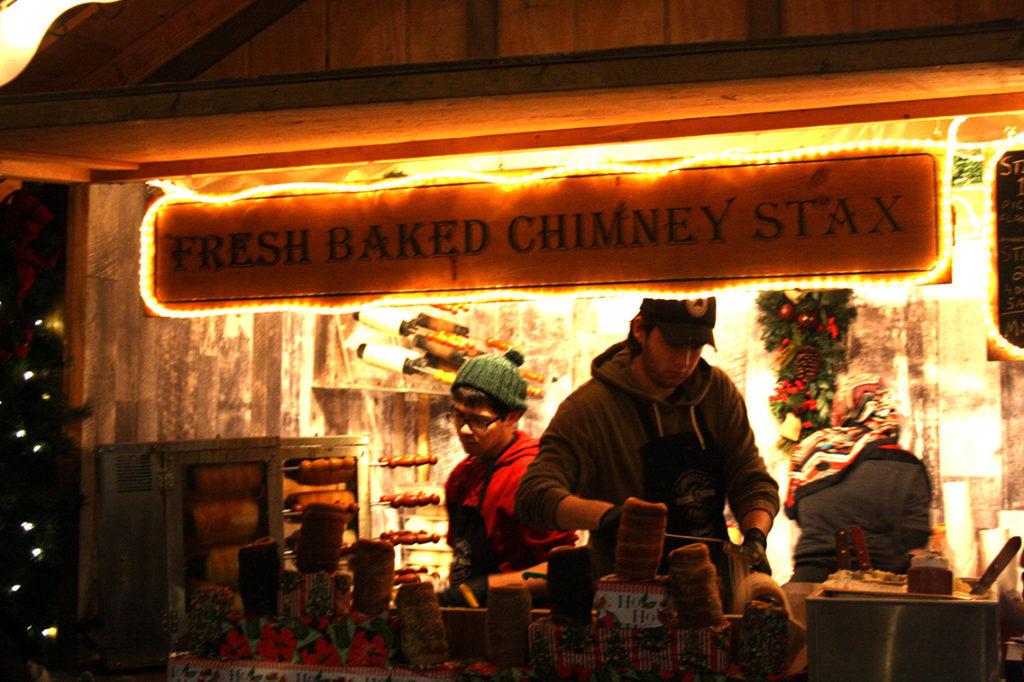 Trdelník na vianočných trhoch v Toronte