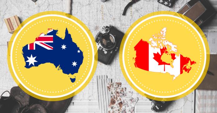 Aký je rozdiel medzi Kanadou a Austráliou?